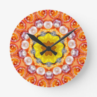 Horloge Ronde Bulles et fractale de scintillement de perles