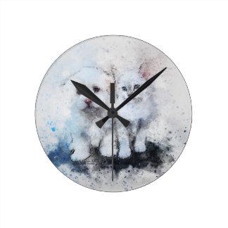 Horloge Ronde Cadeaux animaux mignons