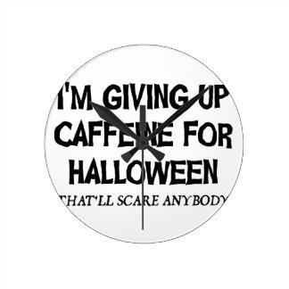 Horloge Ronde Caféine pour Halloween