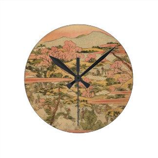 Horloge Ronde Campagne japonaise