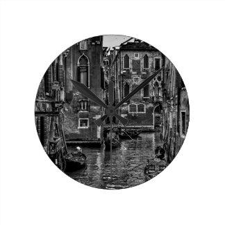 Horloge Ronde Canal de bateau de gondole de Venise Italie