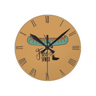 Horloge Ronde Canoë d'esprit libre