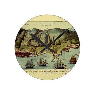 Horloge Ronde Carte du Gibraltar 1765