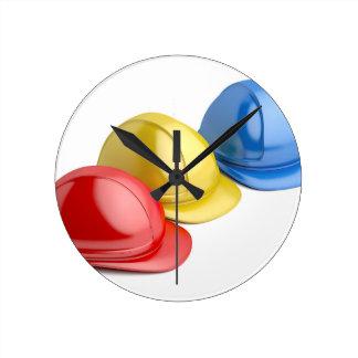 Horloge Ronde Casques de sécurité