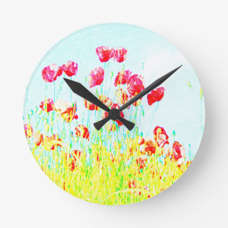 Horloge Ronde Champ de pavot