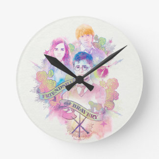 Horloge Ronde Charme | Harry, Hermione, et Ron Waterc de Harry
