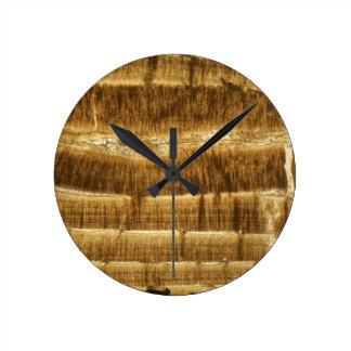 Horloge Ronde Chaux de Nummulite sous le microscope