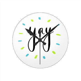 Horloge Ronde Chemises de YAY, accessoires, cadeau