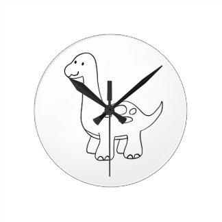 Horloge Ronde Chemises MIGNONNES de DINOSAURE, accessoires,