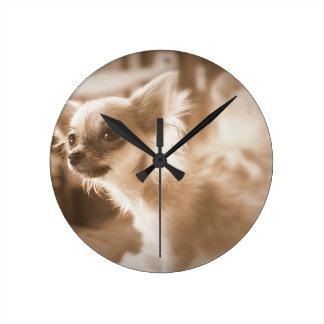 Horloge Ronde chien