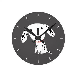 Horloge Ronde Chiot dalmatien