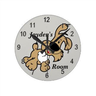 Horloge Ronde Chiot mignon de l'horloge de l'enfant