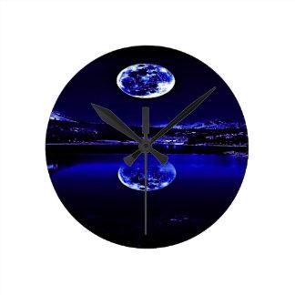 Horloge Ronde Ciel bleu crépusculaire de nuits