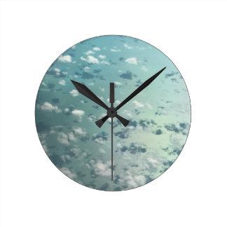Horloge Ronde Ciel et nuages
