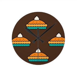 Horloge Ronde Citrouille de dessert de tarte de tarte de