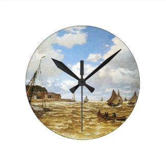 Horloge Ronde Claude Monet - bouche de l'illustration de la