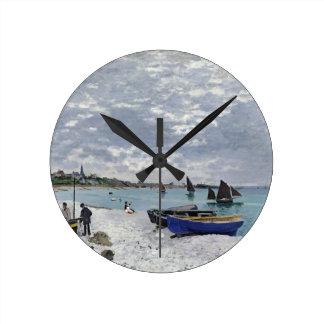 Horloge Ronde Claude Monet | la plage chez Sainte-Adresse