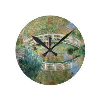 Horloge Ronde Claude Monet | le pont japonais, Giverny