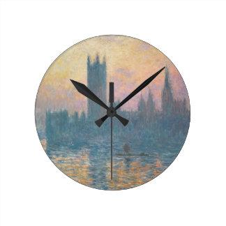Horloge Ronde Claude Monet | les Chambres du Parlement, coucher