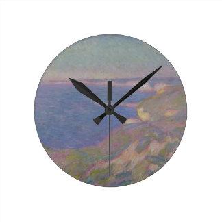 Horloge Ronde Claude Monet | les falaises s'approchent de Dieppe