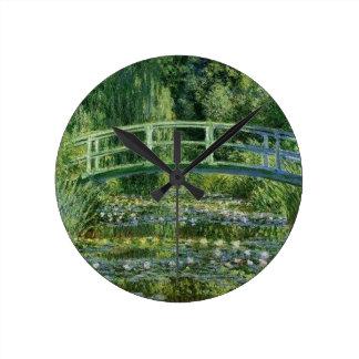 Horloge Ronde Claude Monet - pont japonais