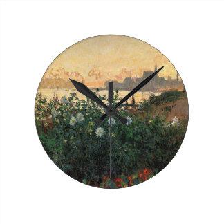 Horloge Ronde Claude Monet - rive fleurie Argenteuil