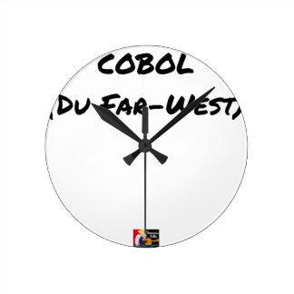 Horloge Ronde Cobol (Du Far-West) - Jeux de Mots- Francois Ville