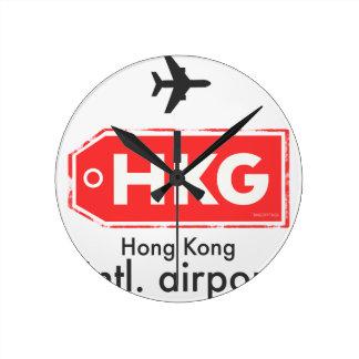 Horloge Ronde Code d'aéroport de Hong Kong HKG