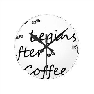 Horloge Ronde coffee18