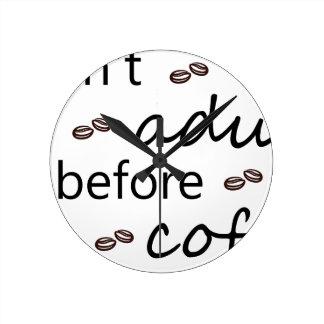 Horloge Ronde coffee20