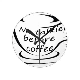 Horloge Ronde coffee22