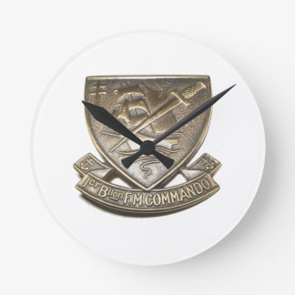 Horloge Ronde Commando Kieffer - Insigne 1er BFMC