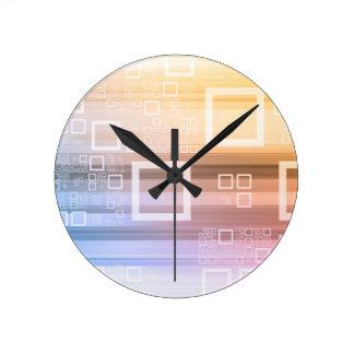 Horloge Ronde Concept du trafic de train de données de données