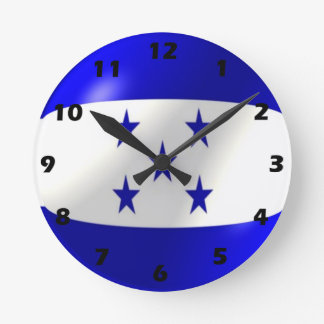 Horloge Ronde Conception de drapeau du Honduras