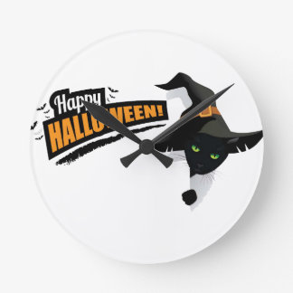 Horloge Ronde Conception de Halloween