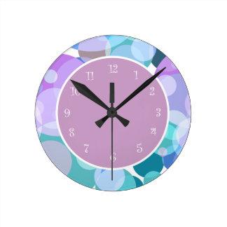 Horloge Ronde Conception élégante moderne de point de polka