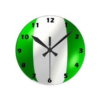 Horloge Ronde Conception nigérienne de drapeau