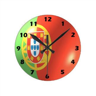 Horloge Ronde Conception portugaise de drapeau