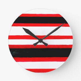 Horloge Ronde Conception rayée d'abstraction