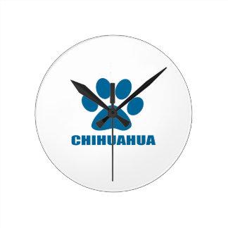 HORLOGE RONDE CONCEPTIONS DE CHIEN DE CHIWAWA