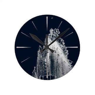 Horloge Ronde contour d'une nuit bleue