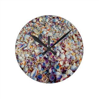 Horloge Ronde Coquillages