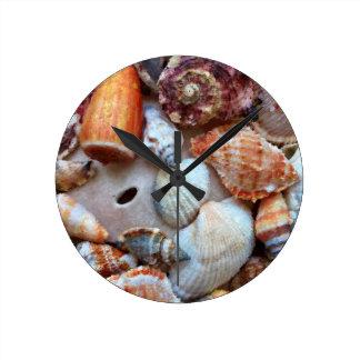 Horloge Ronde Coquillages par le bord de la mer