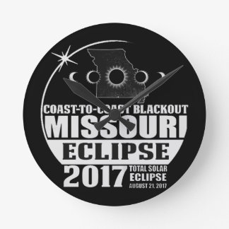 Horloge Ronde Côte pour marcher l'éclipse 2017 du Missouri