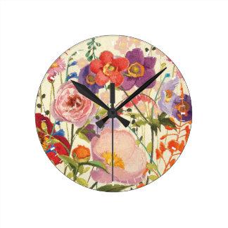 Horloge Ronde Couleur Printemps