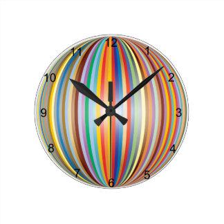 Horloge Ronde Couleurs de l'arc-en-ciel