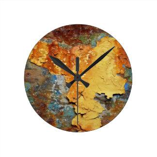 Horloge Ronde Couleurs de Rust_894, Rouille-Art