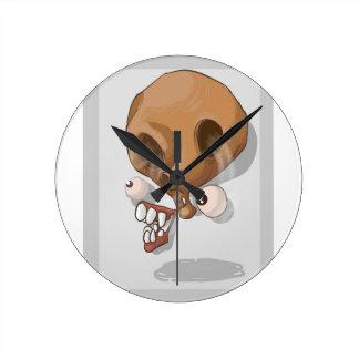 Horloge Ronde Crâne de bande dessinée