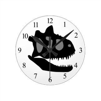 Horloge Ronde Crâne de Carnotaurus