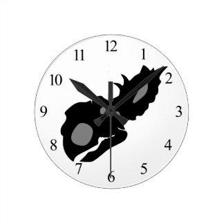 Horloge Ronde Crâne de Pachyrhinosaurus